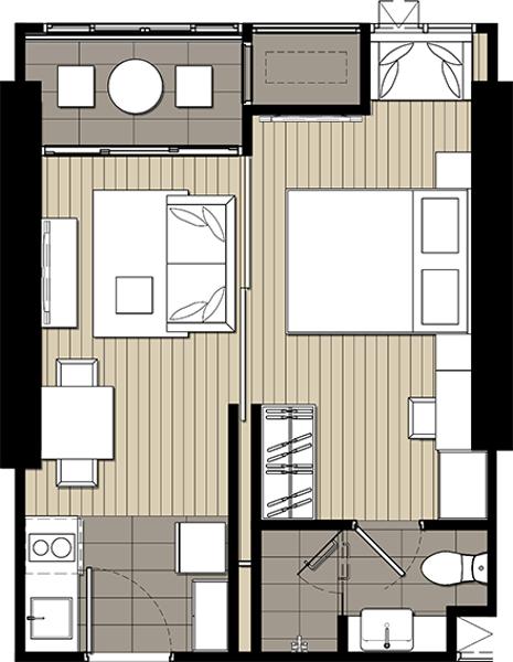 รูปภาพ 1 ห้องนอน Condo ในโครงการ Ashton Asoke Khlong Toei Nuea Sub District C014579
