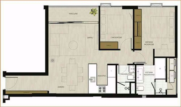 รูปภาพ 2 ห้องนอน Condo ในโครงการ MODE Sukhumvit 61 Khlong Tan Nuea Sub District C016413
